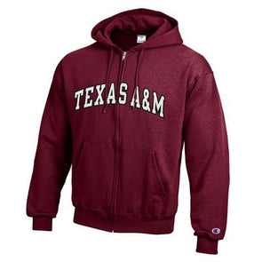 Texas A&M Champion Texas A&M Full Zip Hood