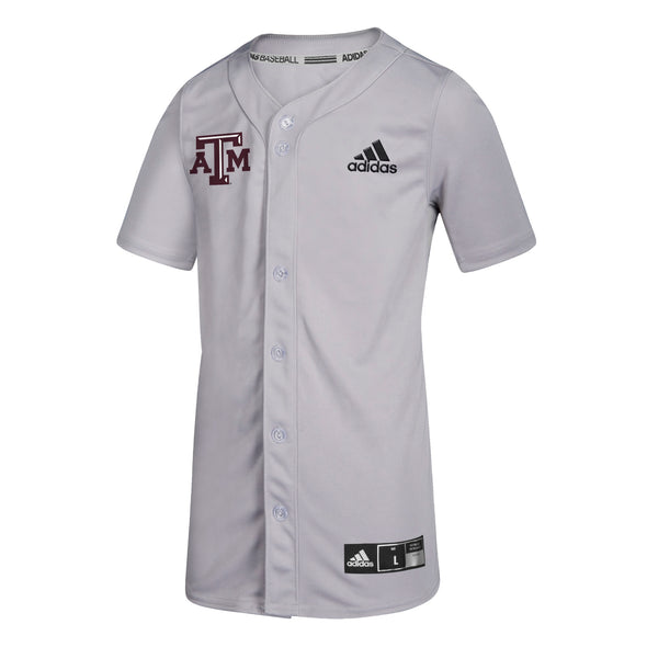 Texas A&M Adidas Adult Diamond King Elite Full Button Baseball Jersey