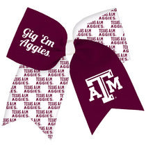 Spirit Cheer Texas A&M Bow Barrette XL