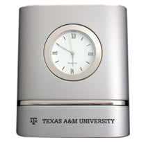 TEXAS A&M AGGIES TWO TONE DESK CLOCK