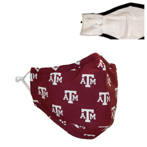Texas A&M Repeat Logo Face Mask