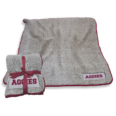 Texas A&M Frosty Fleece Blanket - Gray