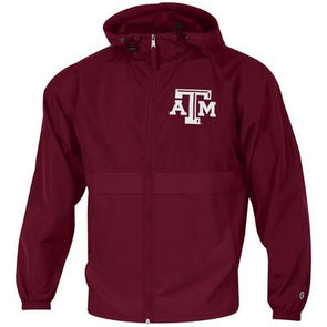 Texas A&M Champion Full Zip Lightweight Jacket - Maroon