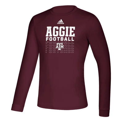 Texas A&M Adidas Maroon Long Sleeve Creator Football Tee