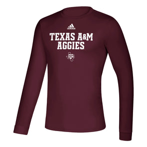 Texas A&M Aggies Adidas Maroon Long Sleeve Creator Tee