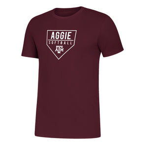 "Texas A&M Adidas Men's ""Aggie Softball"" Amplifier Tee"