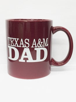 Maroon Texas A&M Dad Mug
