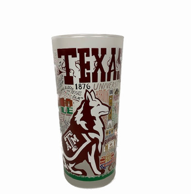 Catstudio Texas A&M 15oz Glass