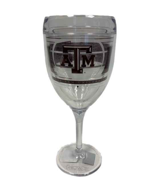Tervis Texas A&M UV Reverse Wine Glass