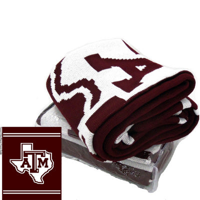 Texas A&M Jardine Knit Blanket