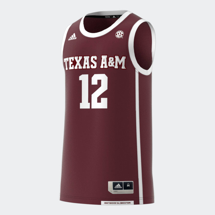 release date: da011 8f790 Texas A&M Sideline Basketball Jersey Adidas