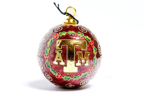 Texas A&M Wreath Cloisonné Christmas Ornament