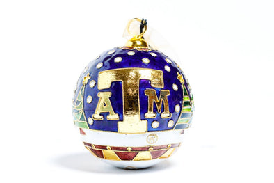 Texas A&M Christmas Trees Cloisonné Christmas Ornament