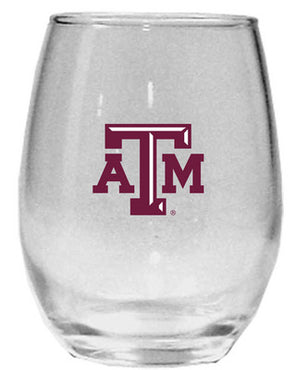 Texas A&M 15 oz Stemless Wine Glass