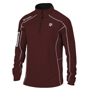 Texas A&M Columbia Golf Shotgun Quarter Zip - Maroon