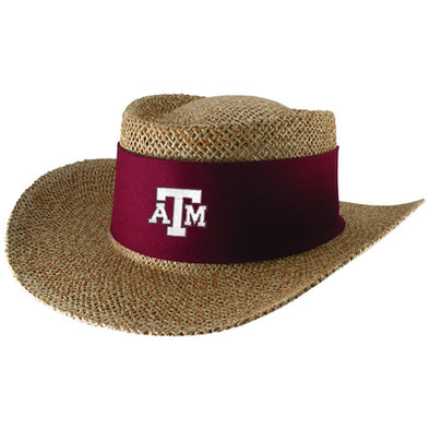 Texas A&M LogoFit Tournament Straw Gambler Hat