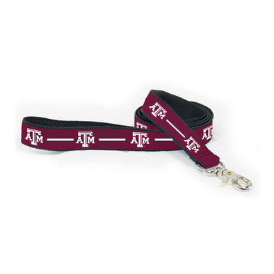 Texas A&M Ribbon Dog Leashes