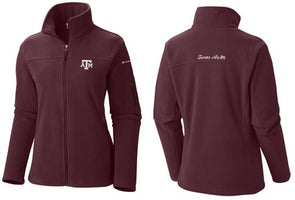 Texas A&M Columbia Give And Go Full Zip Fleece