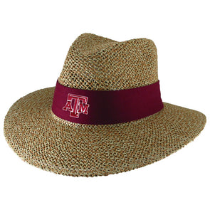 Texas A&M LogoFit Angler Straw Safari Hat