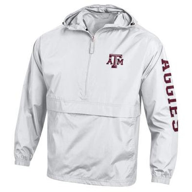 Texas A&M Champion Packable Jacket - White