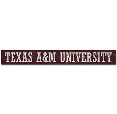 Texas A&M Doorway Plank Sign 4X36