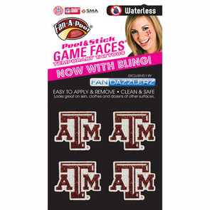 Texas A&M Fandazzler Glitter Tattoos