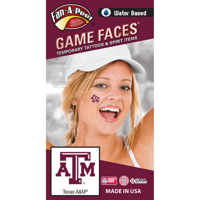 Texas A&M Water Based Temporary Spirit Tattoos