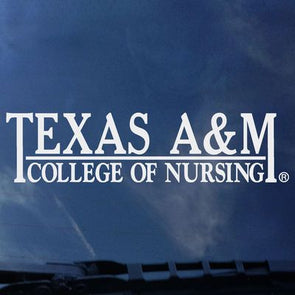 Texas A&M College of Nursing Decal