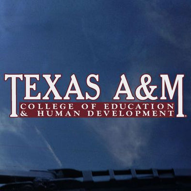 Texas A&M College of Education and Human Development Decal