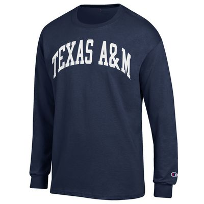 Texas A&M Champion Jersey Long Sleeve T-Shirt - Navy