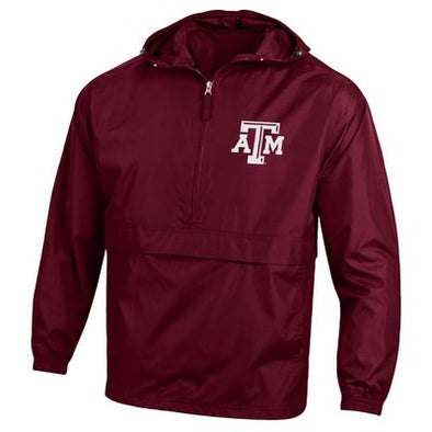 Texas A&M Champion Packable Jacket- Maroon