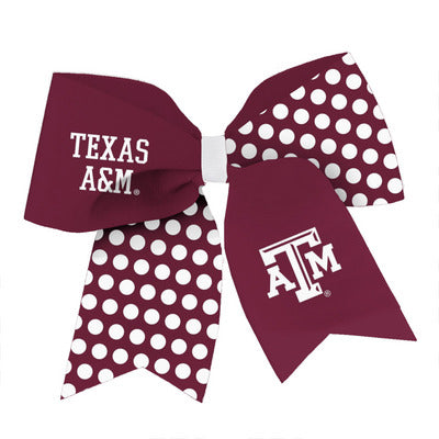 Texas A&M Spirit Cheer Gear Ribbon Barrette