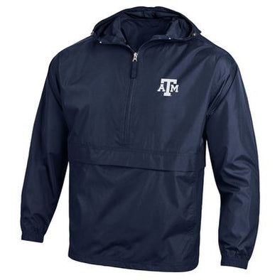 Texas A&M Champion Packable Jacket - Navy