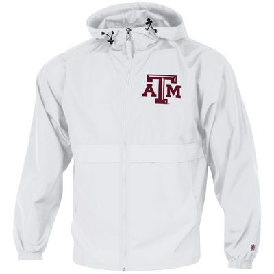 Texas A&M Champion Full Zip Lightweight Jacket - White