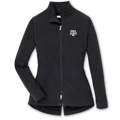 Texas A&M Peter Millar Ladies Black Full Zip Jacket