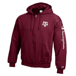 Texas A&M Champion Powerblend Full Zip Hood