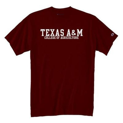 Texas A&M College of Agriculture and Life Sciences Champion T Shirt