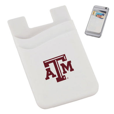 White Dual Pocket Silicone ATM Phone Wallet