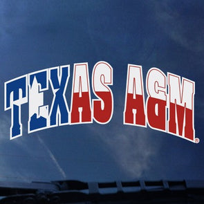 Texas Flag Arched Texas A&M Decal