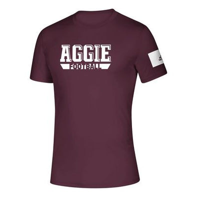 Texas A&M Adidas Men's Aggie Football Creator Tee