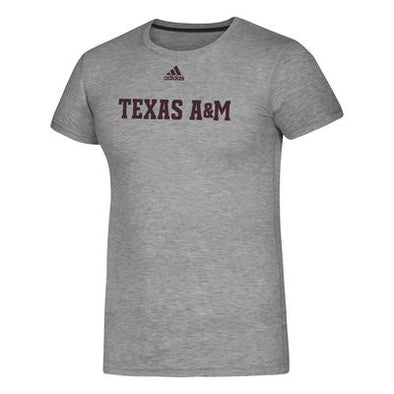 Texas A&M Adidas Men's Gray Creator Tee