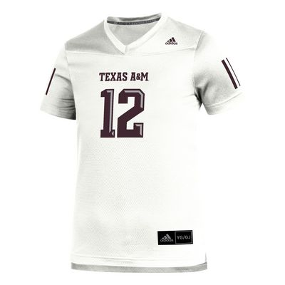 Texas A&M Adidas Youth White Replica Jersey
