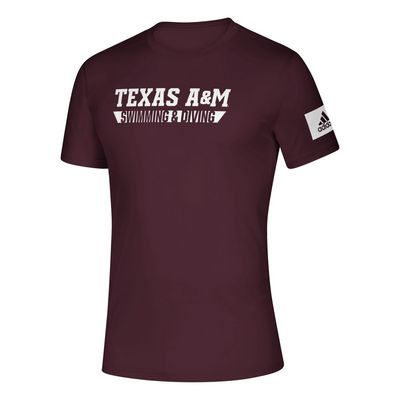 Texas A&M Adidas Swimming & Diving Creator Tee