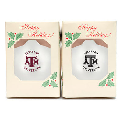 Texas A&M Shatterproof Ornament 2Pack