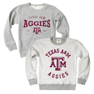 Texas A&M Wes and Wily Toddler Reversible Sweatshirt