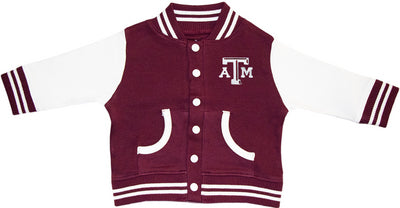 Texas A&M Maroon Creative Knitwear Varsity Jacket