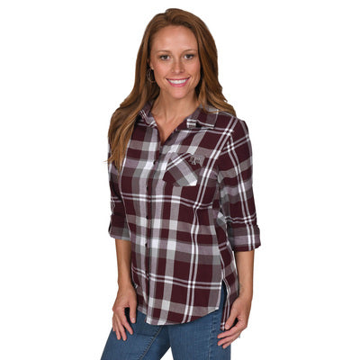 UG Apparel Missy Boyfriend Plaid Relaxed Fit