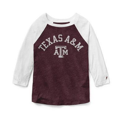 Texas A&M Red Shirt Reverse Baseball T-Shirt