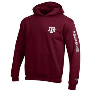 Texas A&M Champion Eco Powerblend Youth Hood
