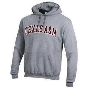 Texas A&M Champion Powerblend Hood - Grey